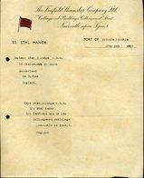 168 NEWCASTLE UPON TYNE 1 - 1951 ,S.S. ETAL MANOR , THE FANFIELD STEAMSHIP COMPANY LTD  , LETTERA INTESTATA - Regno Unito
