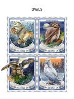 Sierra Leone 2018  Owls Fauna   S201810 - Sierra Leone (1961-...)