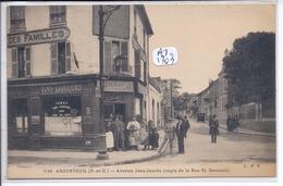 ARGENTEUIL- LE CAFE-TABACS- VINS-LIQUEURS- MAISON COLLAS- ANIMEE - Argenteuil