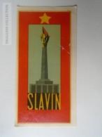 ZA138.48  Vintage Luggage Label  -SLAVIN War Memorial  -Bratislava - Slovakia - Hotel Labels