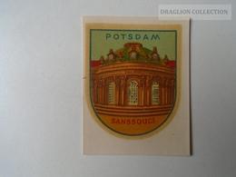 ZA138.51  Vintage Luggage Label  -Sticker - Potsdam Sanssouci - Hotelaufkleber