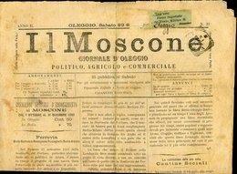163 IL MOSCONE 1893 N° 39 , GIORNALE DI OLEGGIO 4 PAGINE PUB. IN ULTIMA PAGINA - Documenti Storici