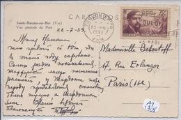 CLAUDE DEBUSSY- N 437 SEUL SUR CPA - RARE- 23 7 1939 - Marcophilie (Lettres)
