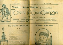 162 SOR TONIN BONA GRAZIA ,1912 NUM . STRAORDINARIO , PUB ALL'INTERNO E IN ULTIMA PAGINA - Altri
