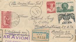 MEXIKO - 1936 , R-Brief über New York Nach Berlin - Devisenkontrolle - Mexiko