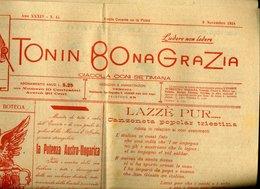 161 SOR TONIN BONA GRAZIA ,1918 N°45, PUB ALL'INTERNO E IN ULTIMA PAGINA - Altri