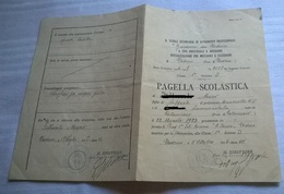 PAGELLA SCOLASTICA 1936-37 UDINE SCUOLA 2°AVV. PROFESSIONALE TIPO INDUSTRIALE E ARTIGIANATO SPEC.MECCANICI E FALEGNAMI - Diplomi E Pagelle