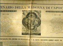 160 FRASCATI 12 SETTEMBRE 1894 , CENTENARIO DELLA MADONNA DI CAPO-CROCE , DA LA VERA ROMA - Libri, Riviste, Fumetti