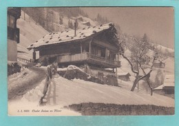 Old Post Card Of Chalet Suisse En Hiver Switzerland R72. - Switzerland