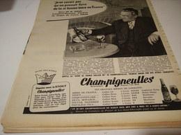 ANCIENNE PUBLICITE BIERE CHAMPIGNEULLES  AVEC AMAR 1959 - Alcools