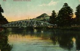 Jena, Schützenbrücke Mit Hausberg, 1911 - Jena