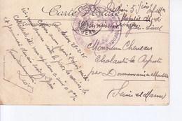 Bordeaux Palais Gatien Avec Cachet Commission De Gare De Bordeaux St Jean  1916 - Marcophilie (Lettres)