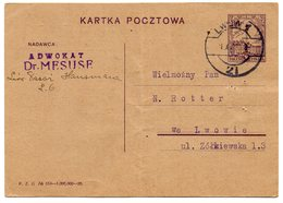 Poland Ukraine Lvov Lwow Lawyer 1926 - 1919-1939 Republik