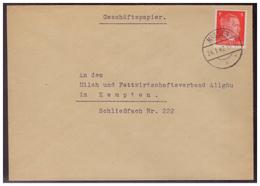 Dt- Reich (006500) Brief Gelaufen Mit Tagesstempel Meissen Nach Kempten Am 24.1.1942 - Briefe U. Dokumente