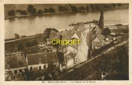 27 Gaillon, Le Roule Et La Seine, Affranchie 1927, Cliché Peu Courant - Other Municipalities