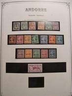 ANDORRE COLLECTION QUASI COMPLETE Des ORIGINES à 1983 TIMBRES NEUFS*/** TTB /SUP COTE TRES IMPORTANTE - Collections