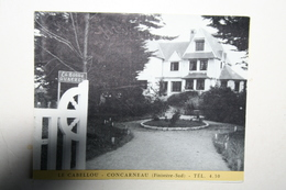 29 : Dépliant - Le Cabellou - Concarneau - La Bonne Auberge ( Voiture ) - Concarneau