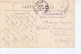 Moret Sur Loing  Avec Cachet  Commissaire Militaire  Gare De Moret Les Sablons - Marcophilie (Lettres)