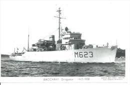 """CP PHOTO: """" BACCARAT """" - DRAGUEUR  M 623  - 14-2-1958   (  -   BATEAU DE GUERRE   ) - Guerre"""