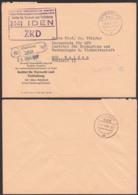 """IDEN Rohrbeck ZKD-Brief 1967 Germany East , GDR, Spatelstempel, Institut Fü Tierzucht U. Tierhaltung """"DDR Im Kastenst."""" - Dienstpost"""