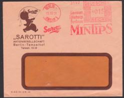 """Berlin-Tempelhof AFS 15.10.1931 """"SAROTTI"""" Die Neuen Erfischeungs Bonbons MINTIPS, Offene Sendung - Duitsland"""