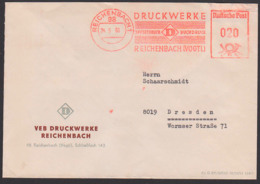 AFS =DP 020= 24.5.66, Reichenbach Vogtland, VEB Druckwerke Offsetdruck, Buchdruck - Marcofilie - EMA (Print Machine)