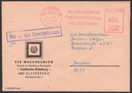 DDR AFS =DP 030= Elsterberg, 14.4.86 ZKD-Post NfD, VEB Wäscheunion Textilwerke - Dienstpost