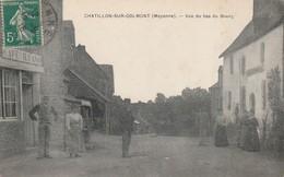 53 -Très Belle Carte Postale Ancienne De Chatillon Sur Colmont  Vue Du Bas Du Bourg - Frankreich