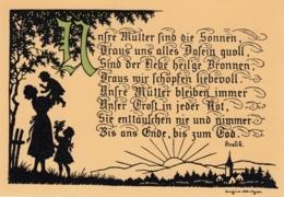 AK - Scherenschnitt - Josefine Allmayer - Künstlerkarten