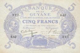 5 FRANCS CABASSON 1942 - ETAT NEUF - Guyane Française