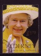 ALDERNEY MI-NR. 166 GESTEMPELT KÖNIGIN ELISABETH II 2001 - Alderney