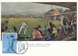 D35685 CARTE MAXIMUM CARD FD 1973 GREAT BRITAIN - CRICKET CP ORIGINAL - Cricket