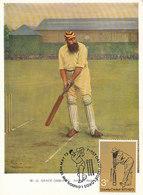 D35687 CARTE MAXIMUM CARD TRIPLE FD 1973 GREAT BRITAIN - CRICKET CP ORIGINAL - Cricket