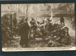 CPA - Illustration Fouqueray - UN DES ACTES HEROIQUES DE NOS FUSILIERS MARINS - Weltkrieg 1914-18
