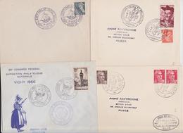 Bourse Philatélique Foire Salon Exposition Fête Conférence Congrès - Lot De 15 Enveloppes Et Cartes Années 1940/50 - Poststempel (Briefe)