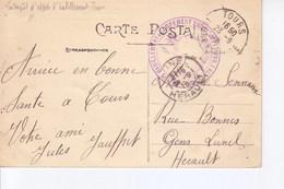 Tours Avec Cachet Entrepot D'habillement De Tours 1916 - Marcophilie (Lettres)