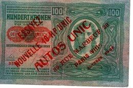 HUNDERT KRONEN  WIEN 2 JANNER 1912   Oesterreichisch - Hungarische Bank - Billets
