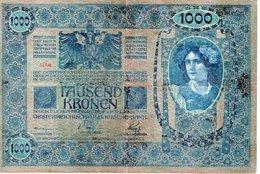 TAUSEND  KRONEN  WIEN 2 JANNER 1902   Oesterreichisch - Ungarische Bank - Billets