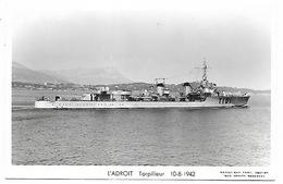 Torpilleur L'ADROIT T101 - Guerra