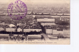 Lyon Avec Cachet Commission Militaire  Gare De Lyon Perrache - Marcophilie (Lettres)