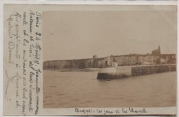 DIEPPE  CARTE PHOTO  LA JETEE ET LA CHAPELLE   EN 1905 - Dieppe