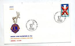 Lettre Fdc 1989 Lions Club - 1921-... Republic