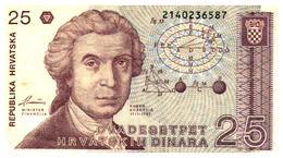 Billets >  Croatie  > 25 Dinara 1991 - Croatia