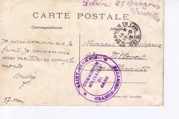 Versailles Avec Cachet Commission Militaire Gare Saint Germain Grande Couronne - Marcophilie (Lettres)