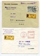 """Oesterreich / 2 Int. Reco-Briefe Ex Wien, Abs. Bundesbahnen, 1x Mit L1-Stempel """"Absenderanweisung Eilt !"""" (30076) - 1945-.... 2. Republik"""
