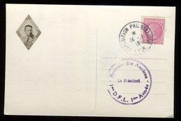 Oblitération Exposition Philatélique De Lyon En 1946 Sur Carte Commémorative De La Mort Du Général Diego Brosset - N160 - Marcophilie (Lettres)