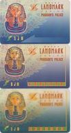 Lot De 3 Cartes De Membre Casino Macau Macao : Landmark Pharaoh's Palace - Cartes De Casino