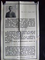AFFICHE LILLE AOUT 1940 AVIS RECHERCHE OFFICIER ANGLAIS LIEUTENANT WALCOT EVADE KOMMANDANTUR 670 - 1939-45