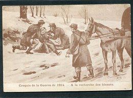 CPA - Illustration A.C. - Croquis De La Guerre De 1914 - A La Recherche Des Blessés - Guerre 1914-18