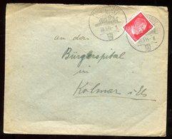 Oblitération Temporaire Allemande De Markirch Sur Enveloppe Pour Colmar En 1944 - N168 - Marcofilia (sobres)